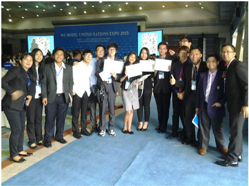 Southville delegation wins Major awards in International MUN (Model United Nations)