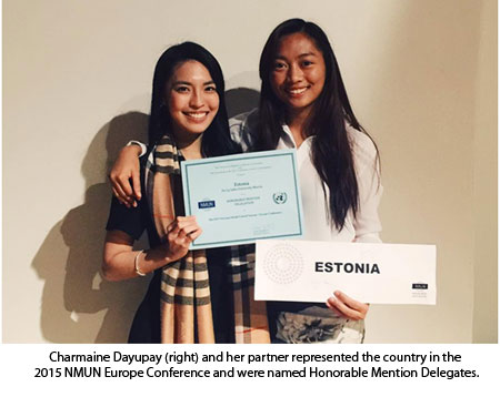 Southville alumna wins an award at National Model United Nations
