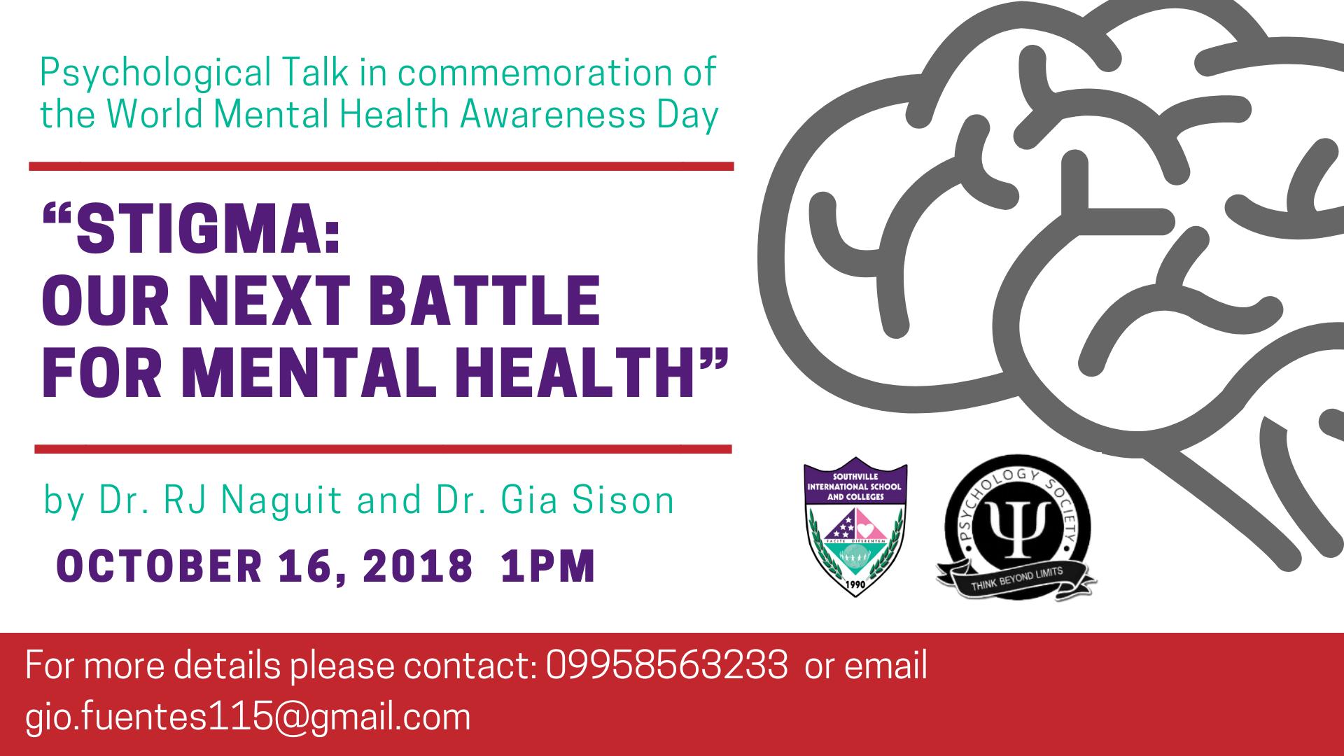 Southville College of Psychology hosts Mental Health Awareness Talk