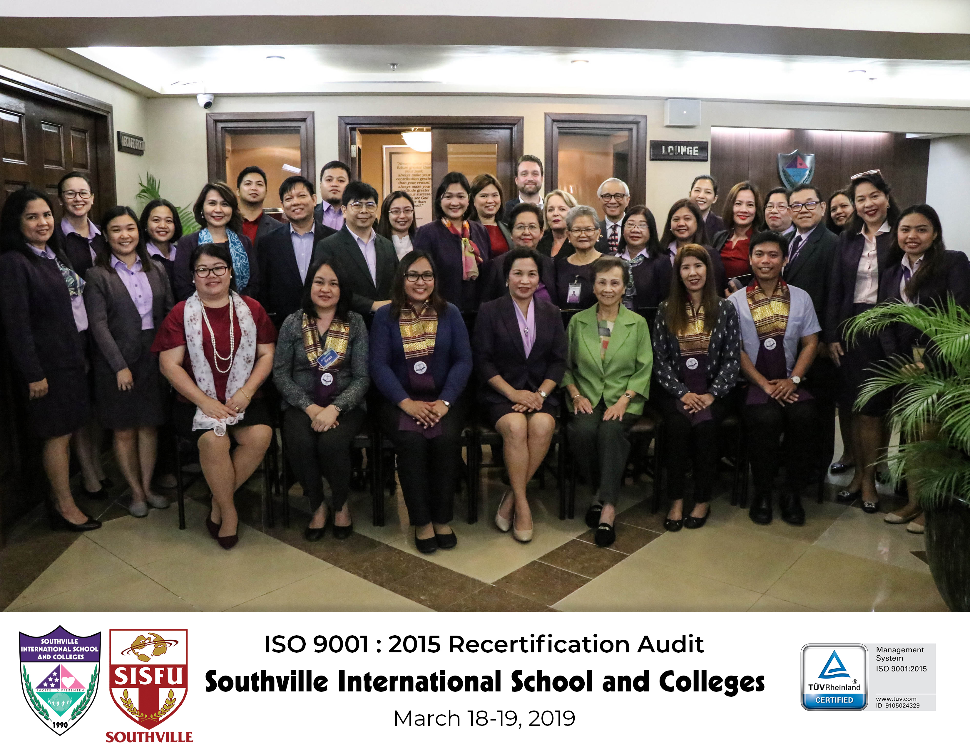 Southville Receives ISO 9001:2015 Accreditation, Zero Non-Conformity (NC) Status