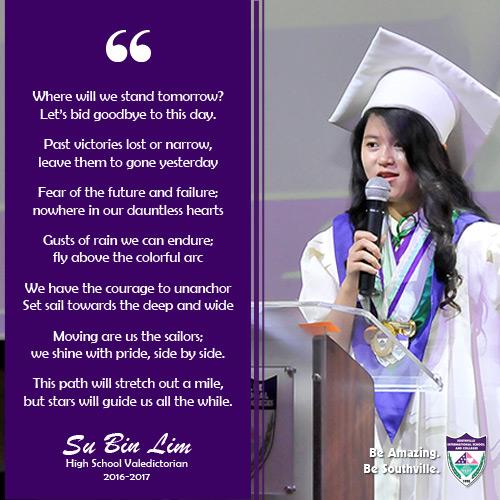 This isn't Farewell: Valedictory Speech of Su Bin Lim (High School Class 2017)
