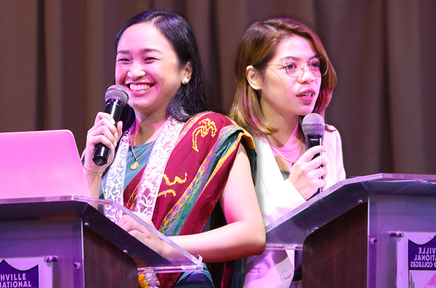 Alumni Dr. Abbey Matibag and Aspiring Lawyer Ms. Monica Caro Inspire  Graduating Monarchs of Grade School and High School Divisions