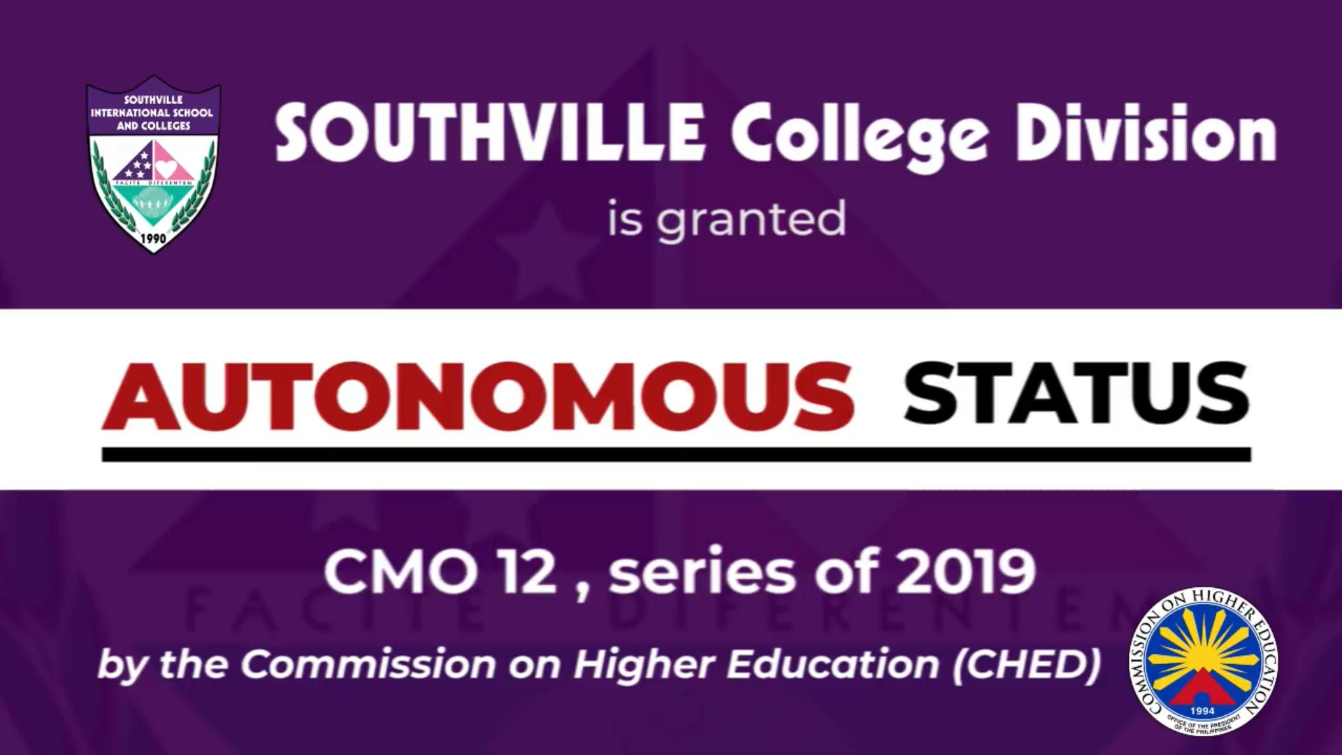 Southville College Division – NOW AUTONOMOUS!
