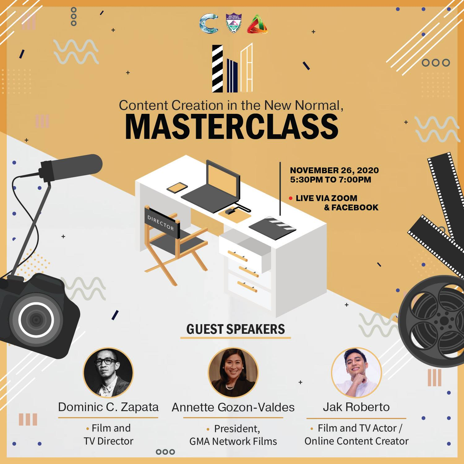 Big Names from Entertainment Industry on Southville's Content Creation MASTERCLASS
