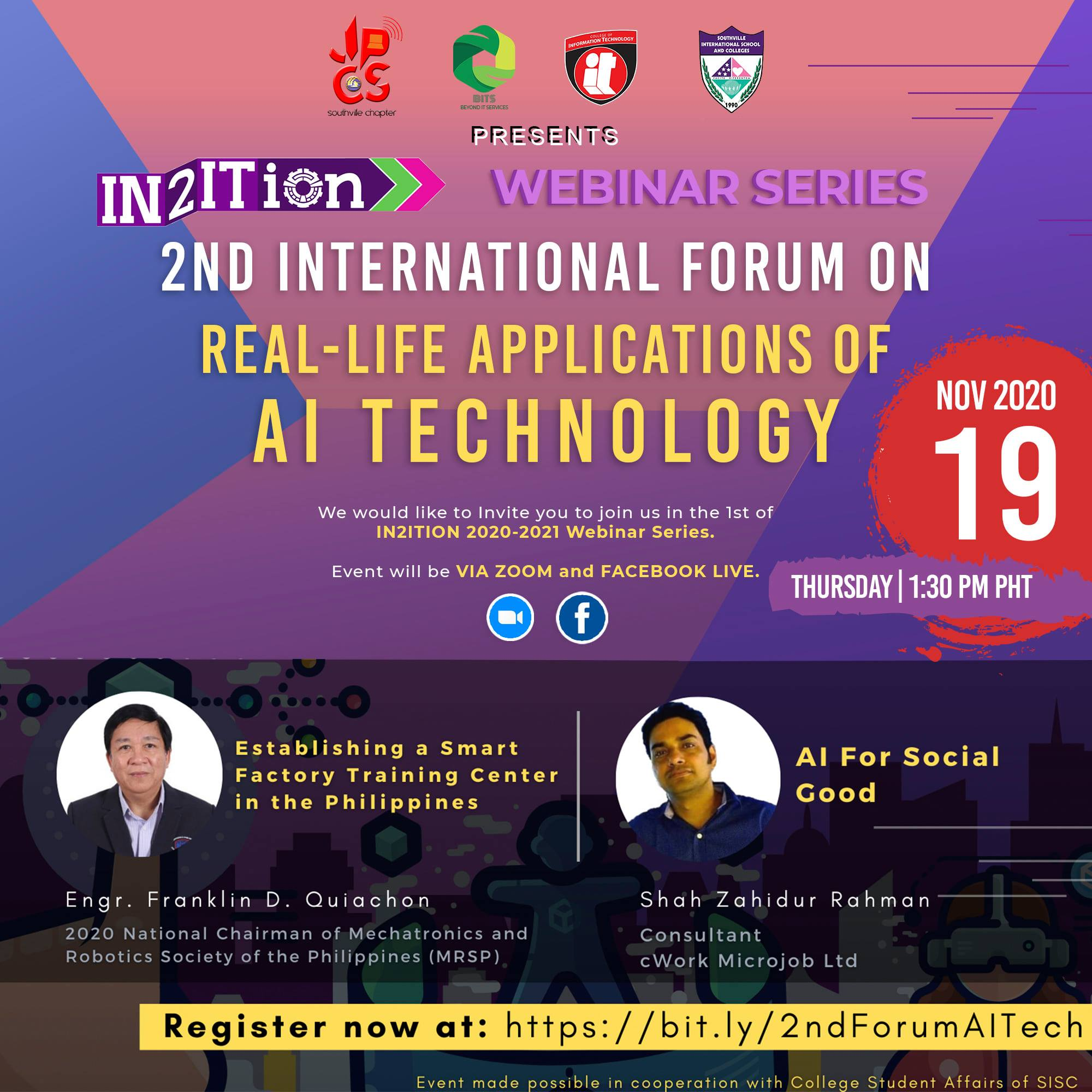 In2ition Presents 2nd International Forum on Real-life Applications of AI Technology